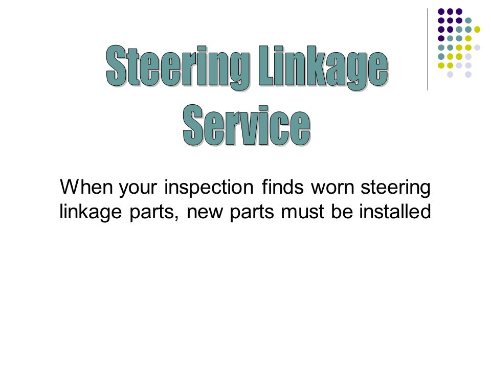 Steering Linkage Service