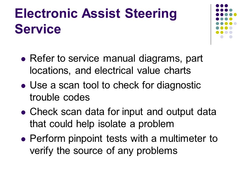 Electronic Assist Steering Service
