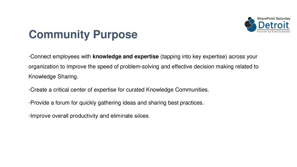 Creating a Knowledge Community Across your Organization