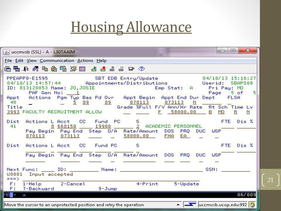 Housing Allowance