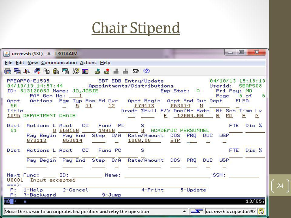 Chair Stipend