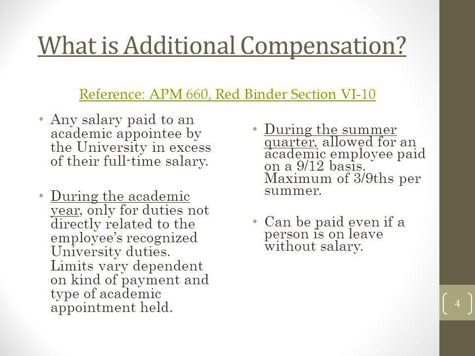 What is Additional Compensation