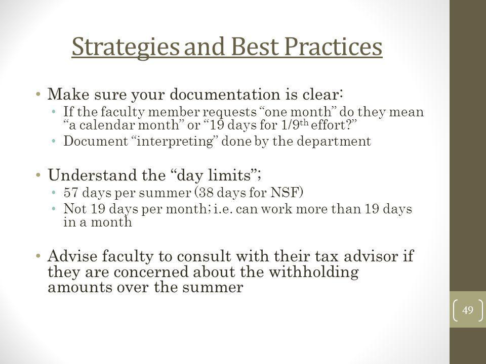 Strategies and Best Practices