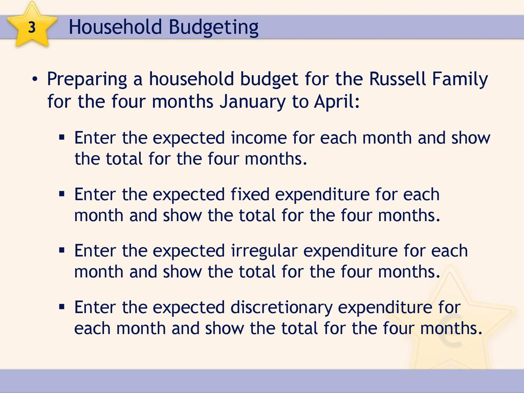 3 household budgeting ppt download