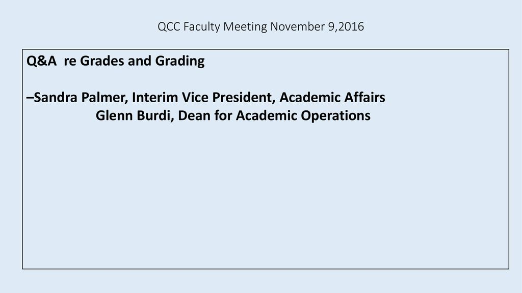 Qcc Academic Calendar.Qcc Faculty Meeting November 9 Ppt Download