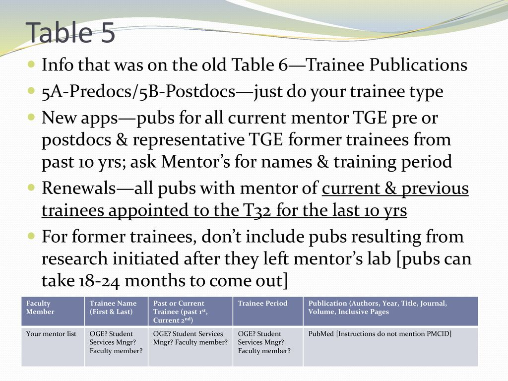 Just when you thought you knew how to do T32 Tables - ppt