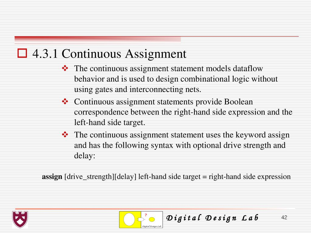 Chapter 4 Combinational Logic Design Using Verilog Hdl Ppt Download Circuits Related Keywords Suggestions Long 431 Continuous Assignment