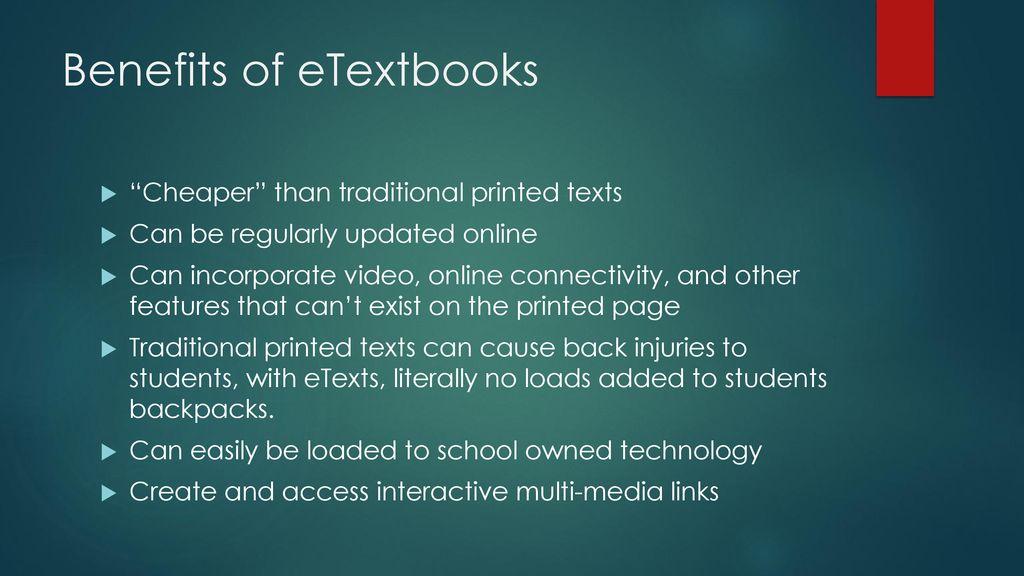 benefits of e textbooks