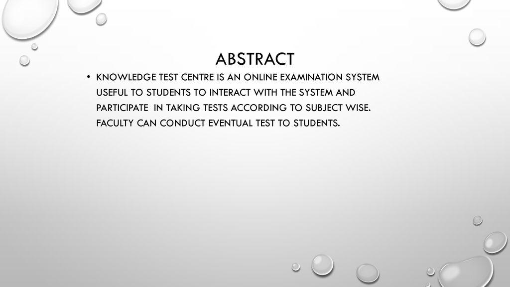 Knowledge Test Centre By SASIKIRAN DIVI U ppt download