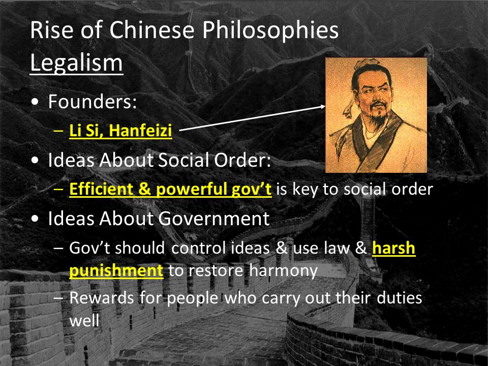 Rise of Chinese Philosophies Legalism