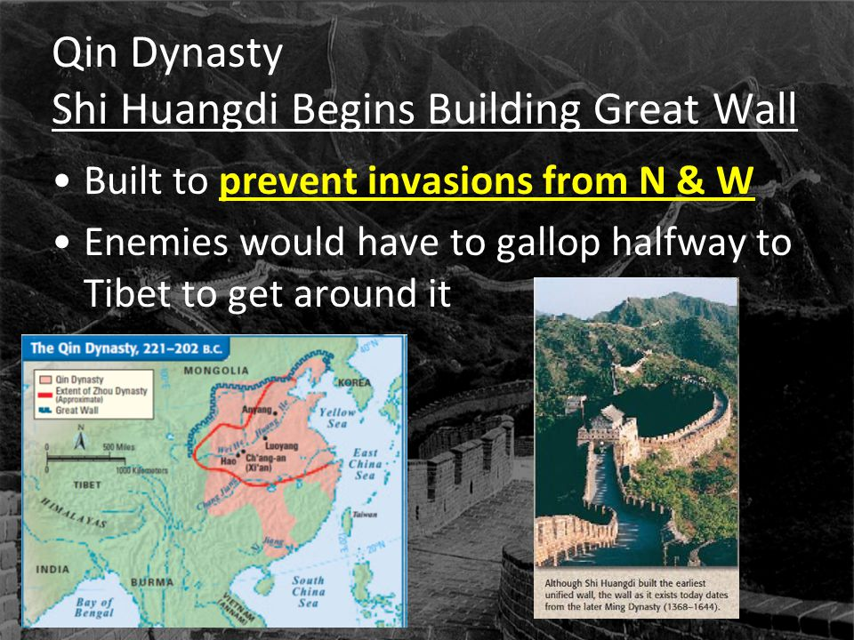 Qin Dynasty Shi Huangdi Begins Building Great Wall