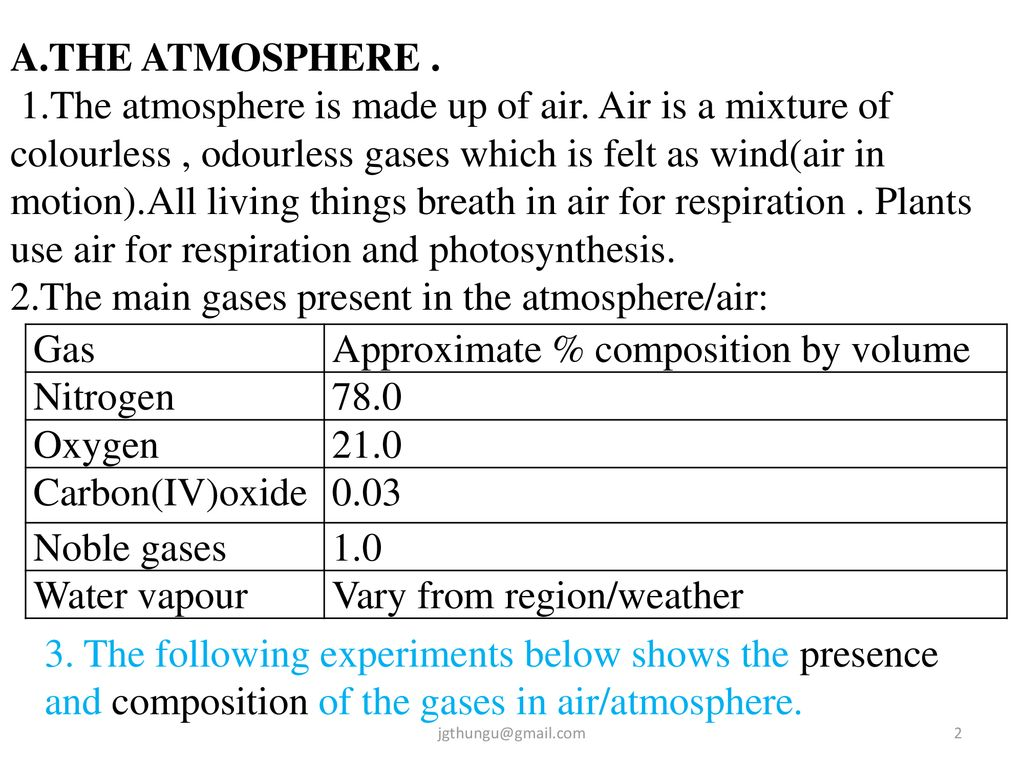 what are the two main gases found in the atmosphere