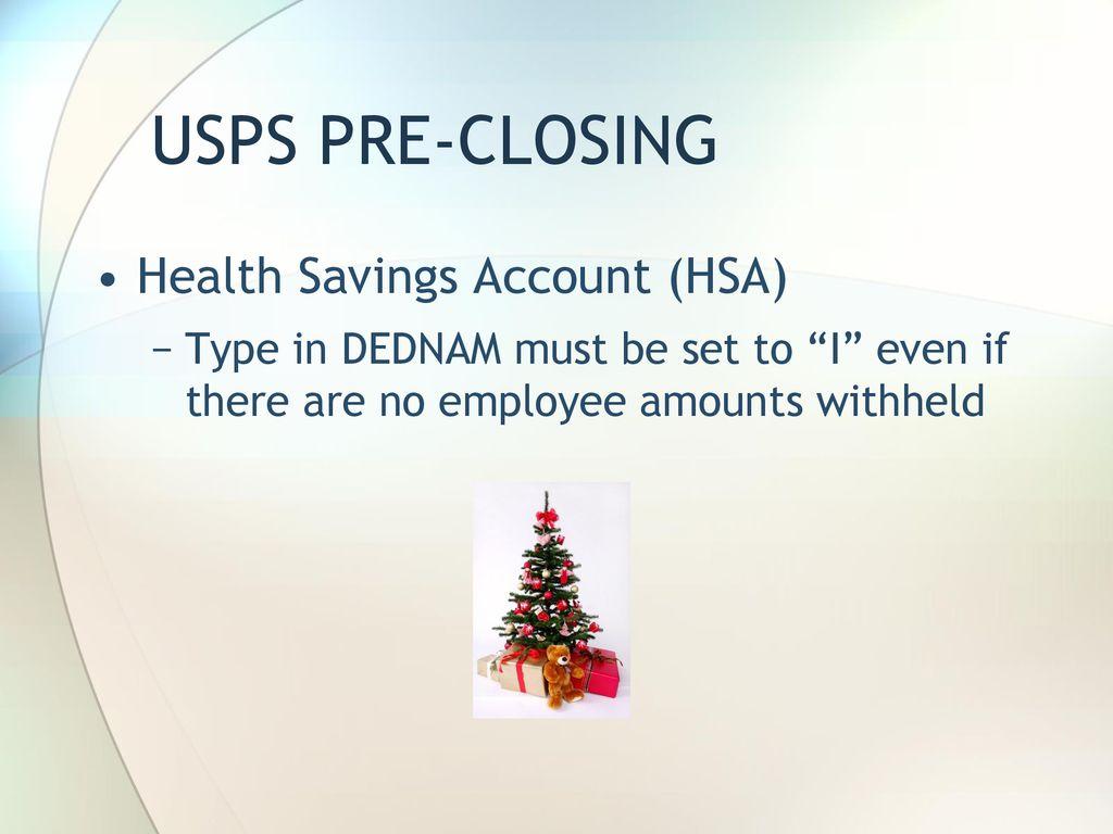 HCC Presents USPS Calendar Year End ppt download