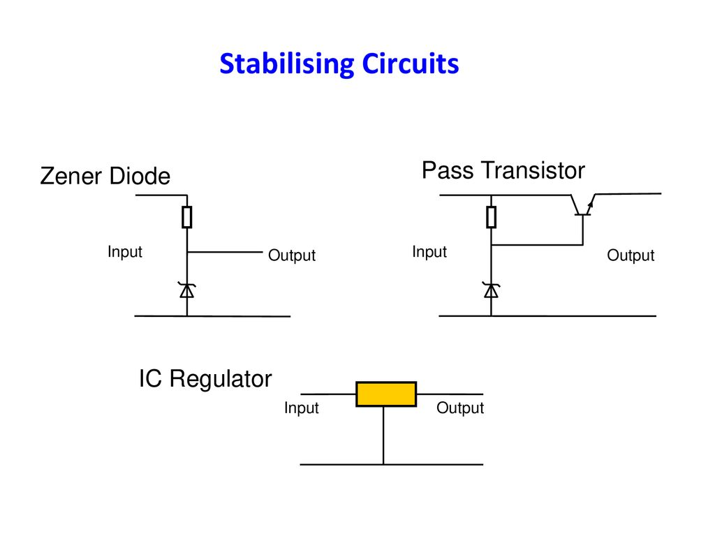 Worksop Amateur Radio Society Advanced Course 9 Safety Adapted Super Steady Zener Diode Circuit Stabilising Circuits Pass Transistor Ic Regulator Output