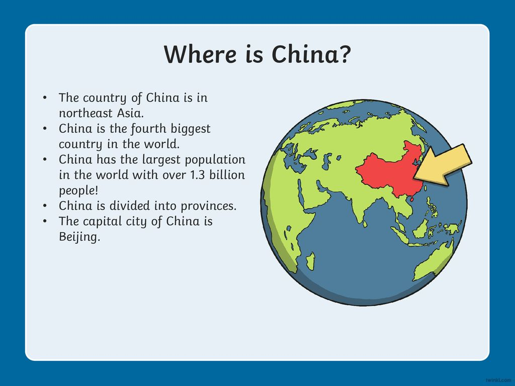 Where is China? The country of China is in northeast Asia