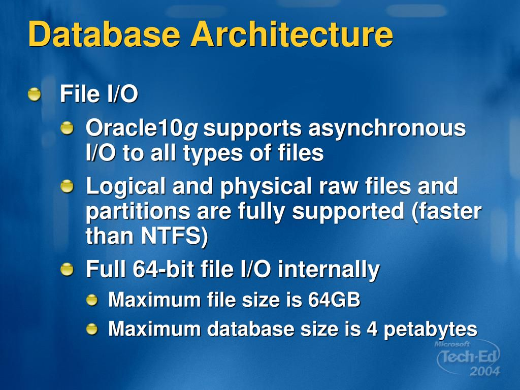 WINC05 Oracle 10g: Leveraging Windows Server ppt download