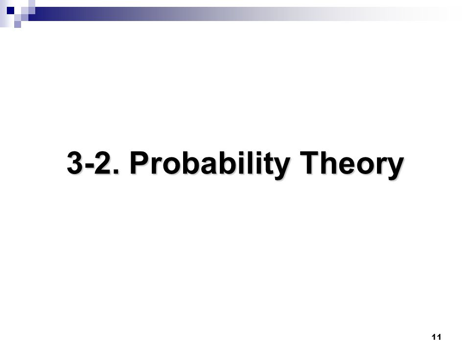3-2. Probability Theory