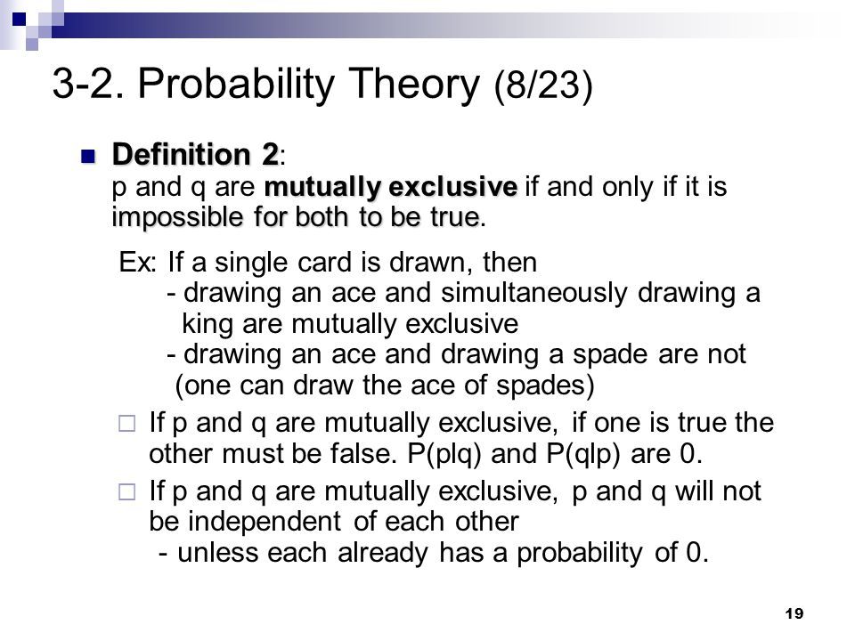 3-2. Probability Theory (8/23)