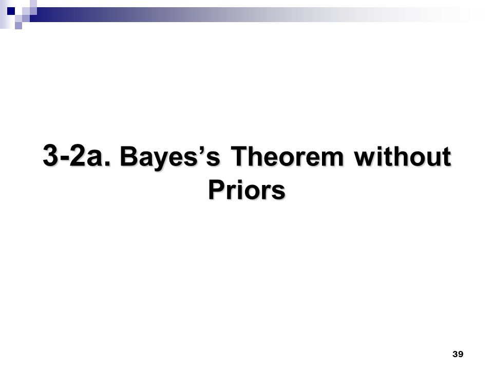 3-2a. Bayes's Theorem without Priors