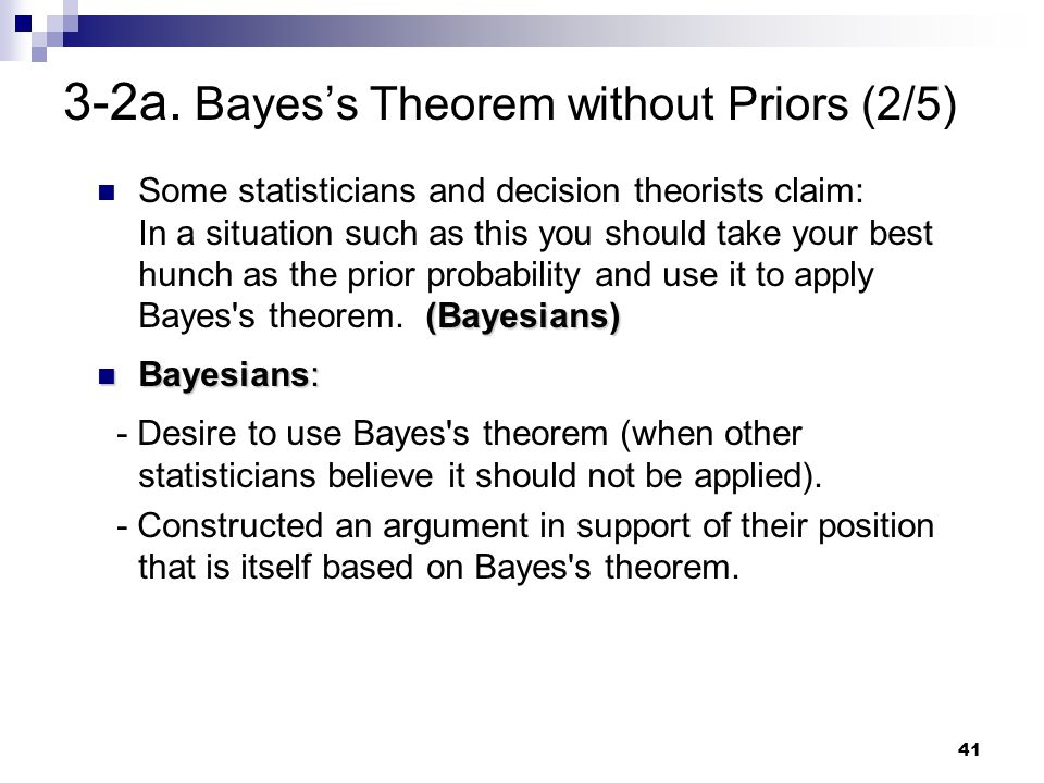 3-2a. Bayes's Theorem without Priors (2/5)