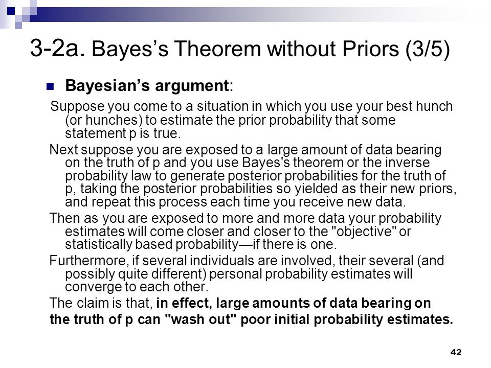 3-2a. Bayes's Theorem without Priors (3/5)