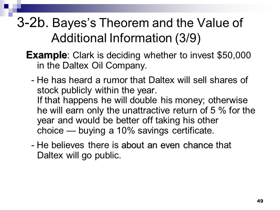 3-2b. Bayes's Theorem and the Value of Additional Information (3/9)