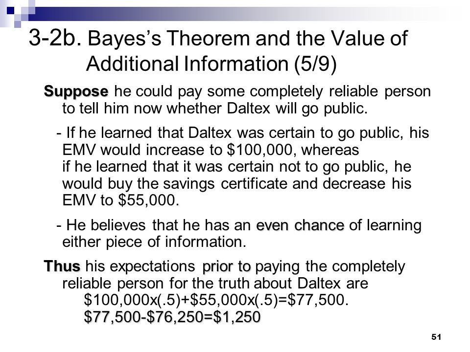 3-2b. Bayes's Theorem and the Value of Additional Information (5/9)