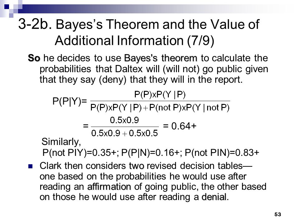 3-2b. Bayes's Theorem and the Value of Additional Information (7/9)