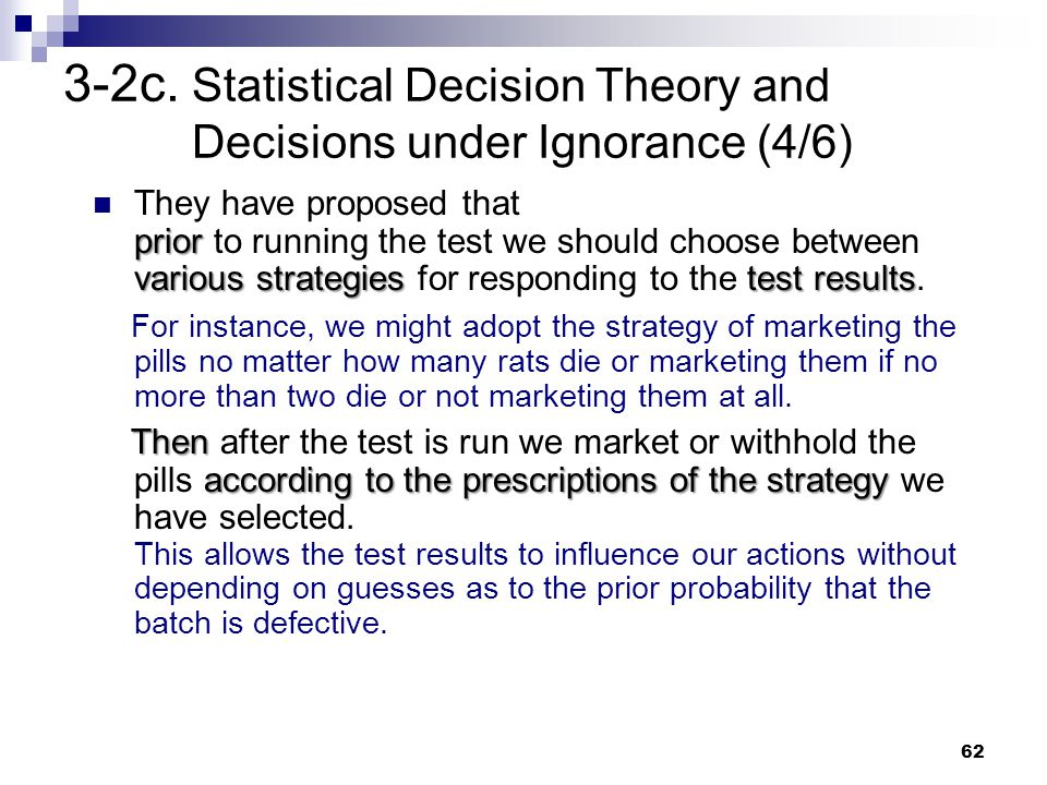 3-2c. Statistical Decision Theory and Decisions under Ignorance (4/6)