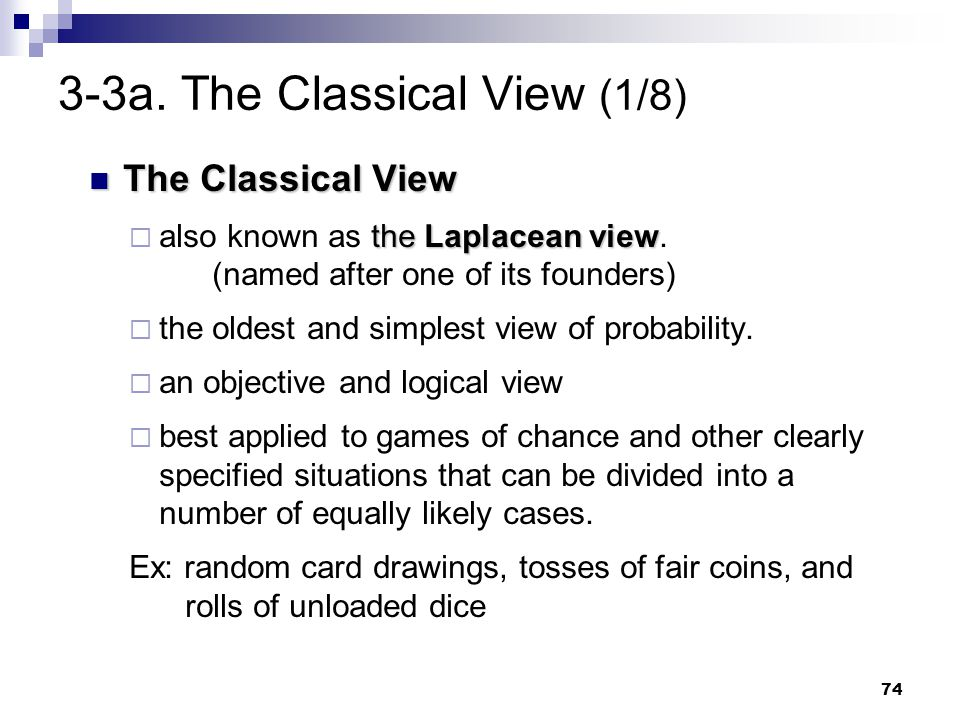 3-3a. The Classical View (1/8)