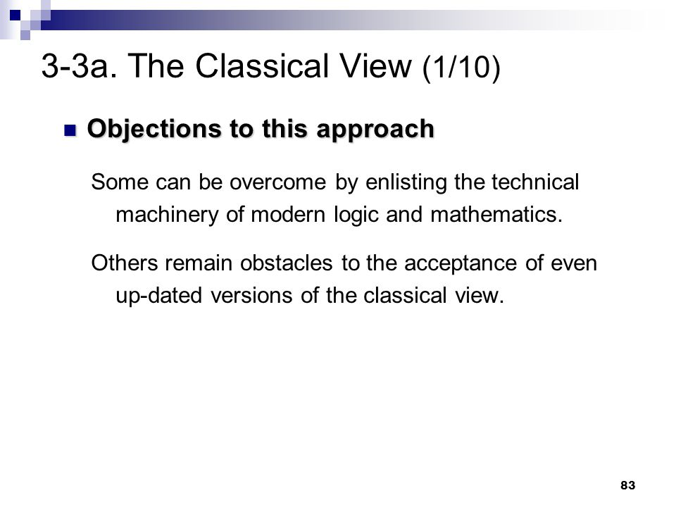 3-3a. The Classical View (1/10)