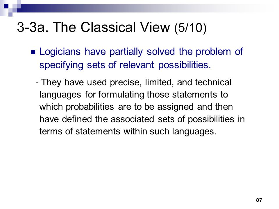3-3a. The Classical View (5/10)