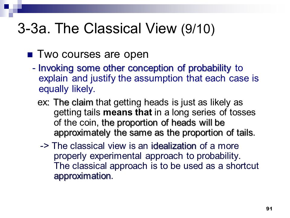 3-3a. The Classical View (9/10)