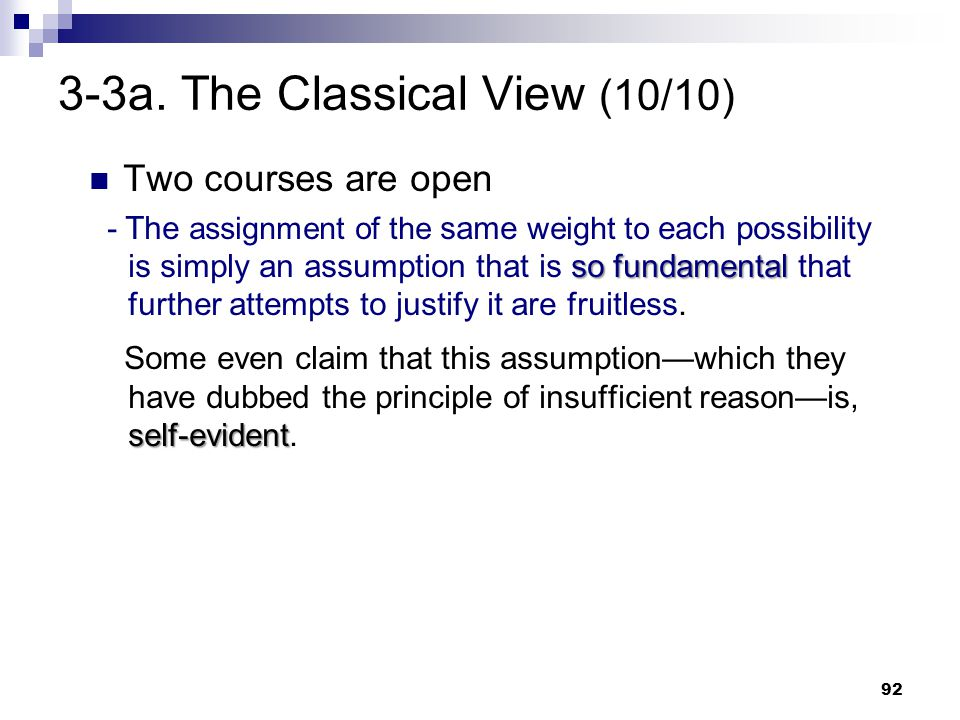3-3a. The Classical View (10/10)