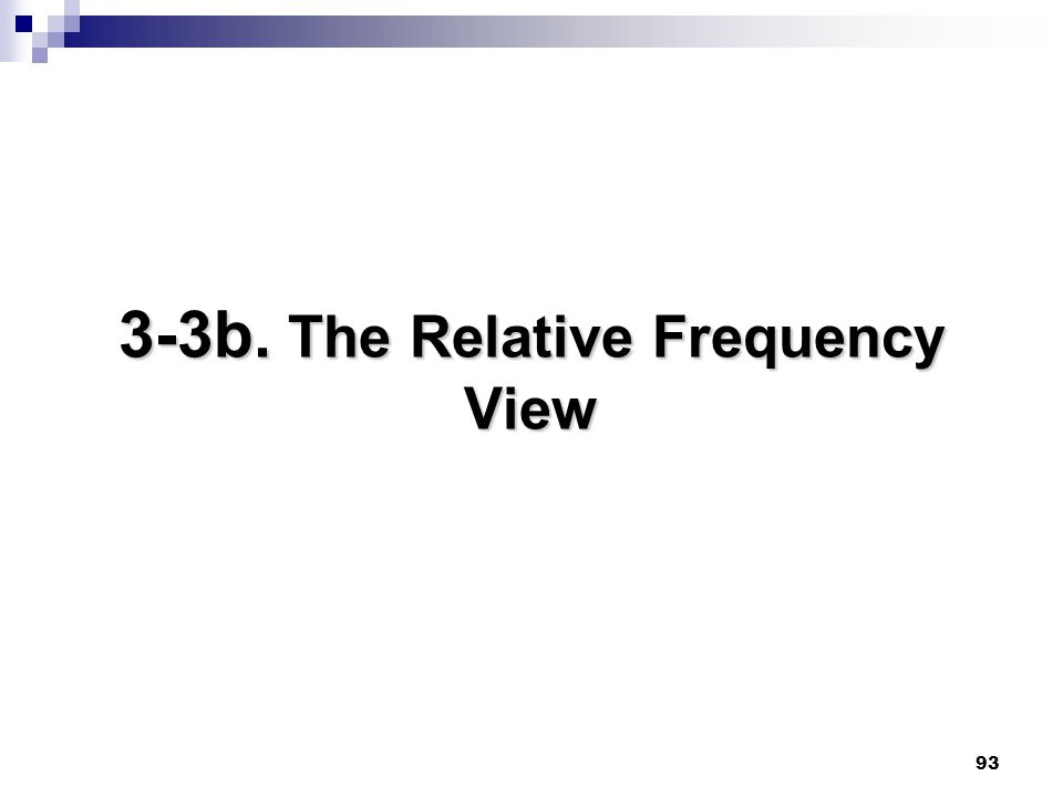 3-3b. The Relative Frequency View