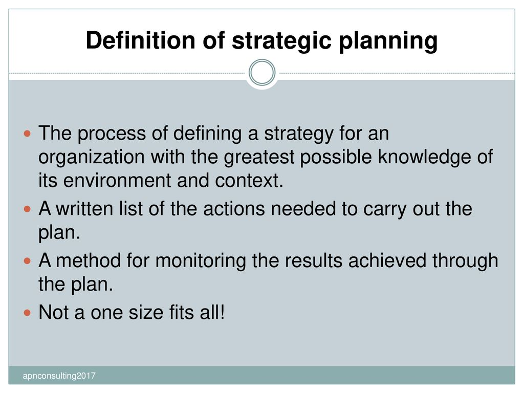 creating a strategic plan for your organization - ppt download