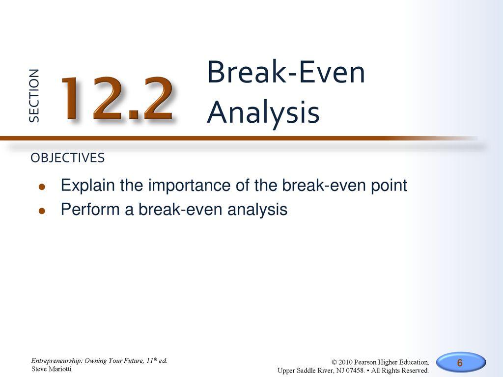break even analysis explanation