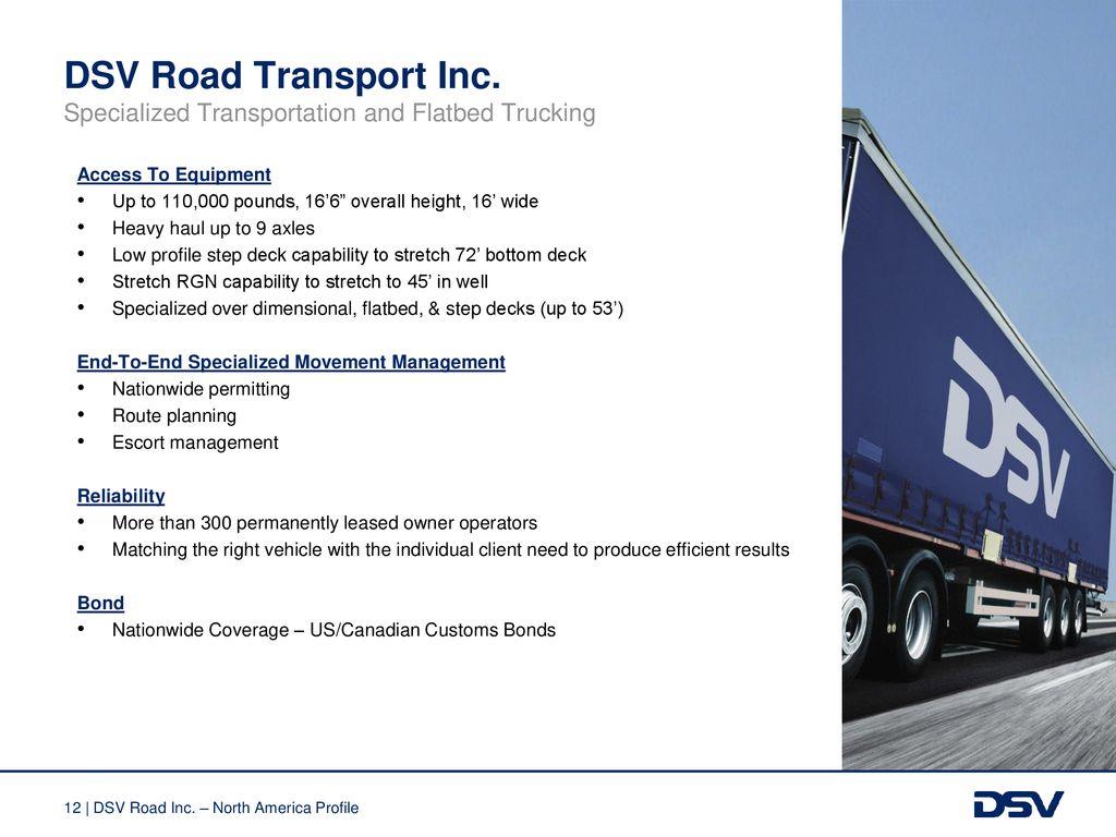 DSV Road Profile North America - ppt download