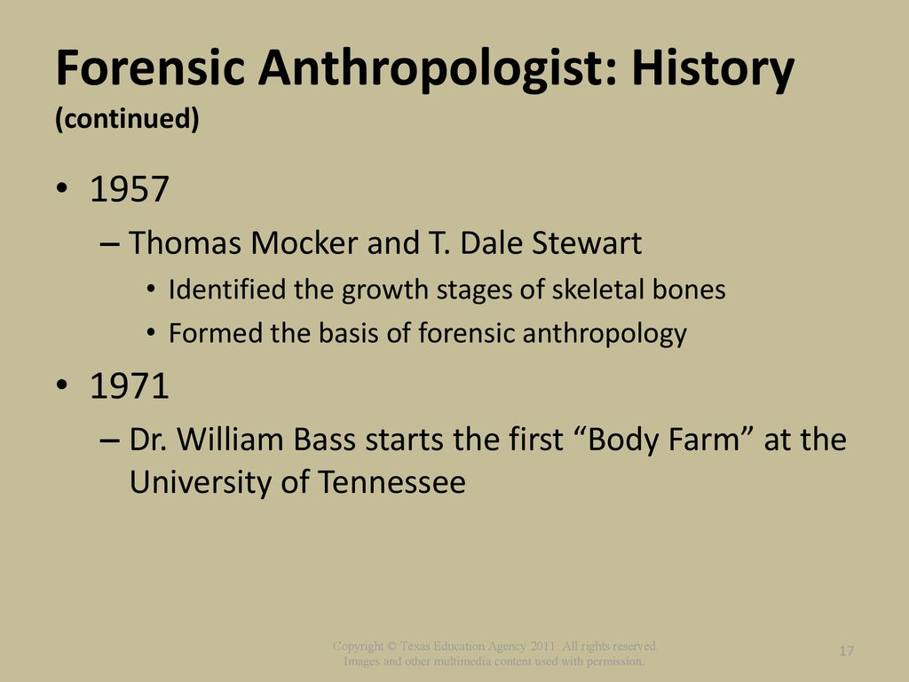 Role Of Forensic Pathologists And Anthropologists Ppt Download