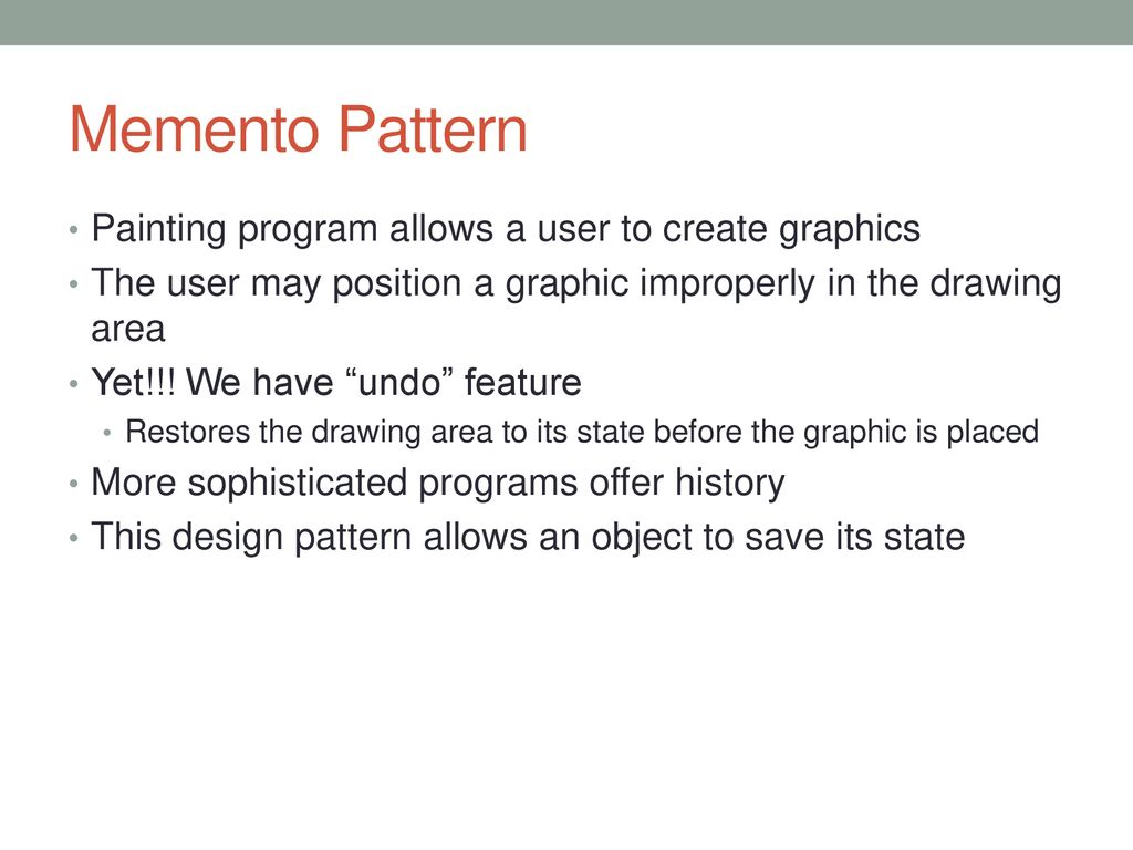 Memento Pattern Cool Design Inspiration