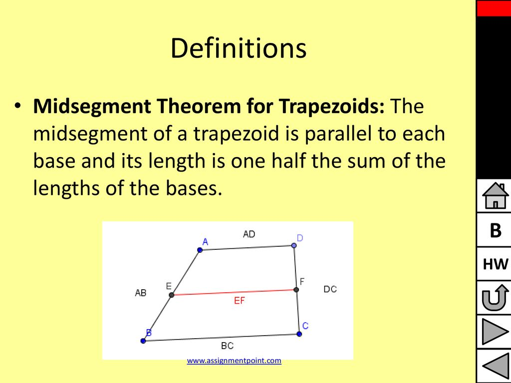 Trapezoid Midsegment Theorem Topsimages
