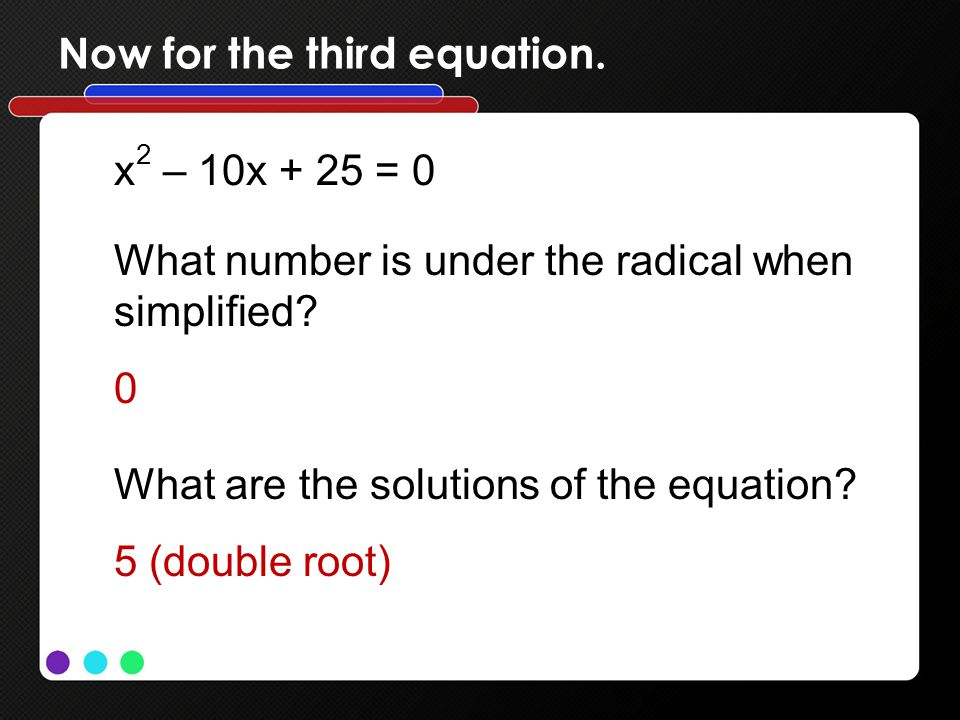 Now for the third equation.