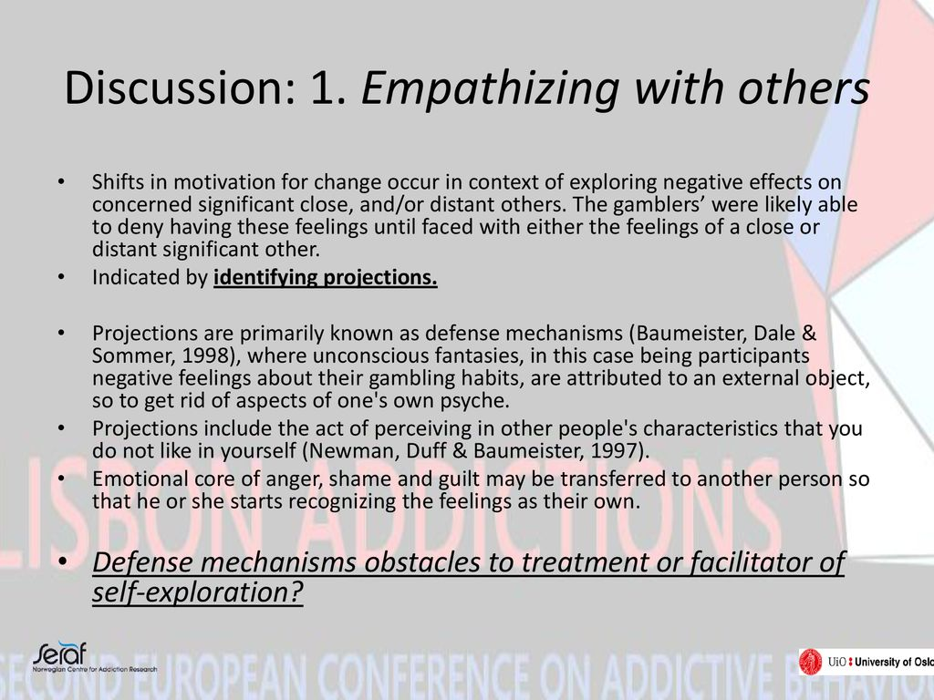 Discussion: 1. Empathizing with others