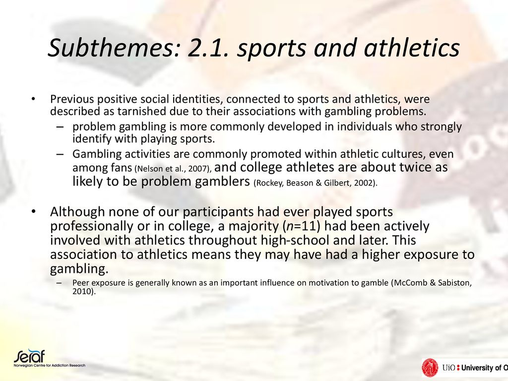 Subthemes: 2.1. sports and athletics