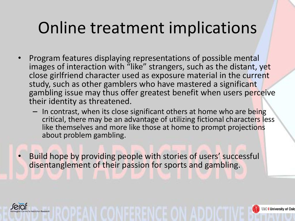 Online treatment implications