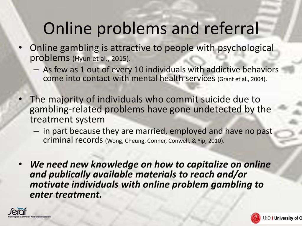 Online problems and referral