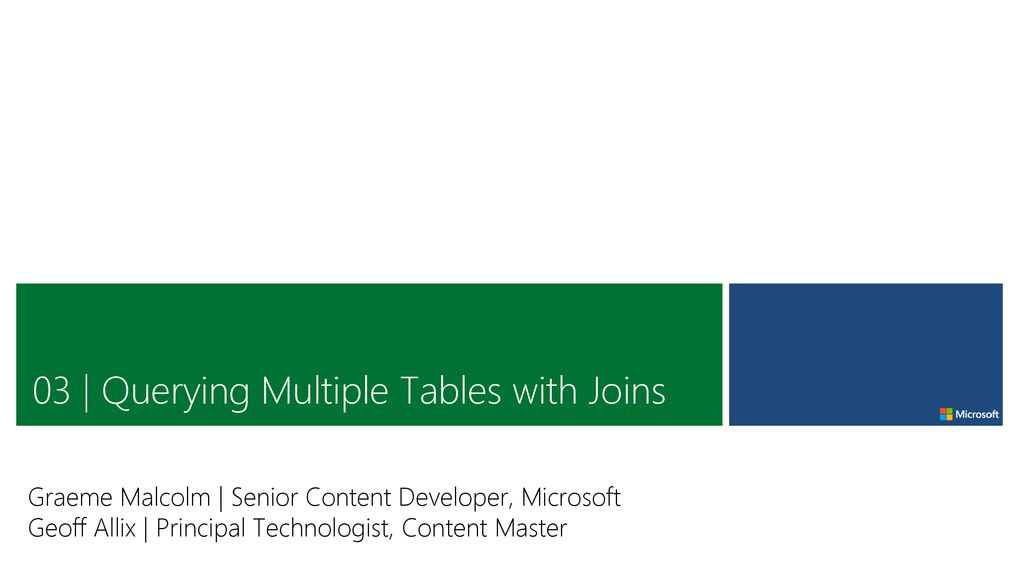 03 Querying Multiple Tables With Joins Ppt Download