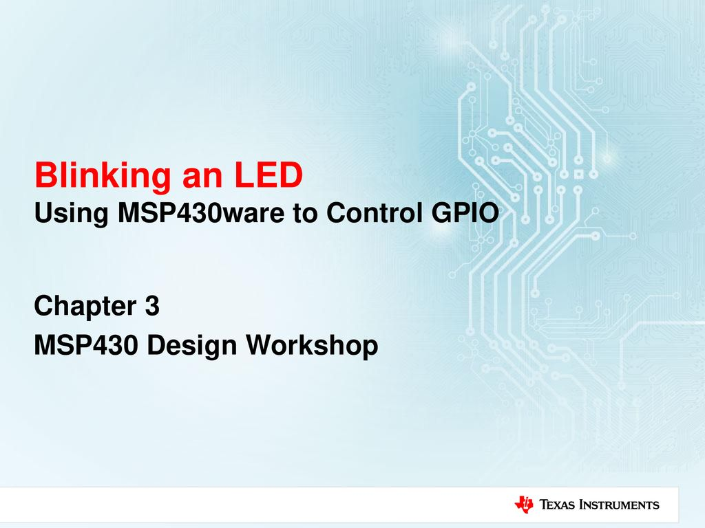 Blinking Led With Tiva Gpio