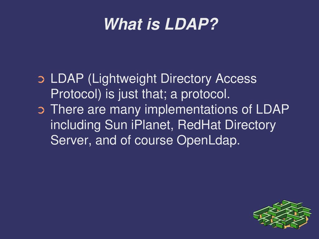 Implementation and configuration of LDAP - ppt download