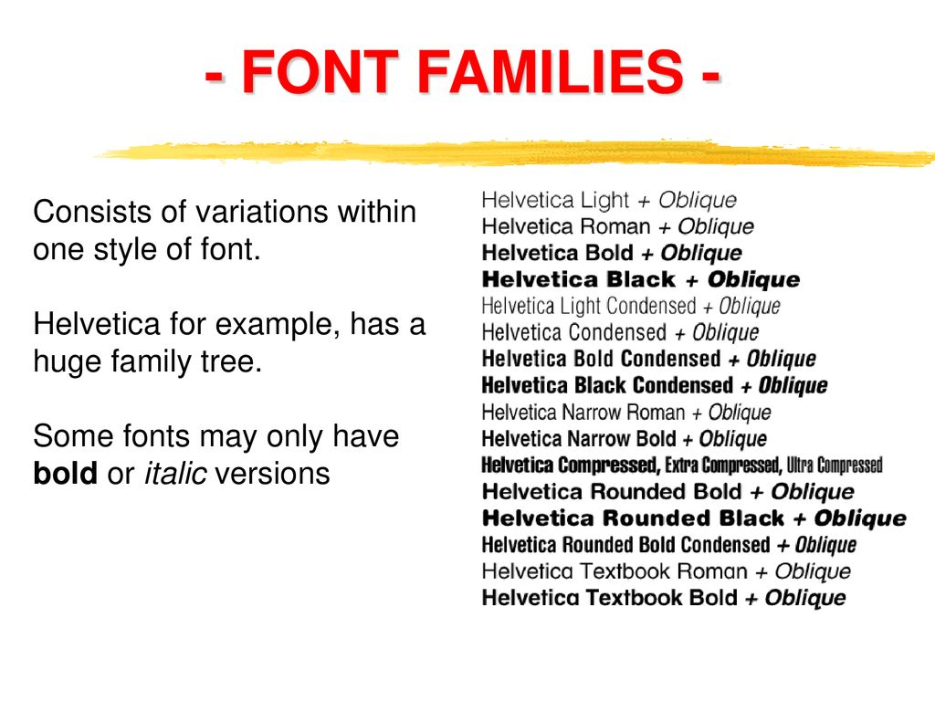 FONTS and TYPEFACES  - ppt download